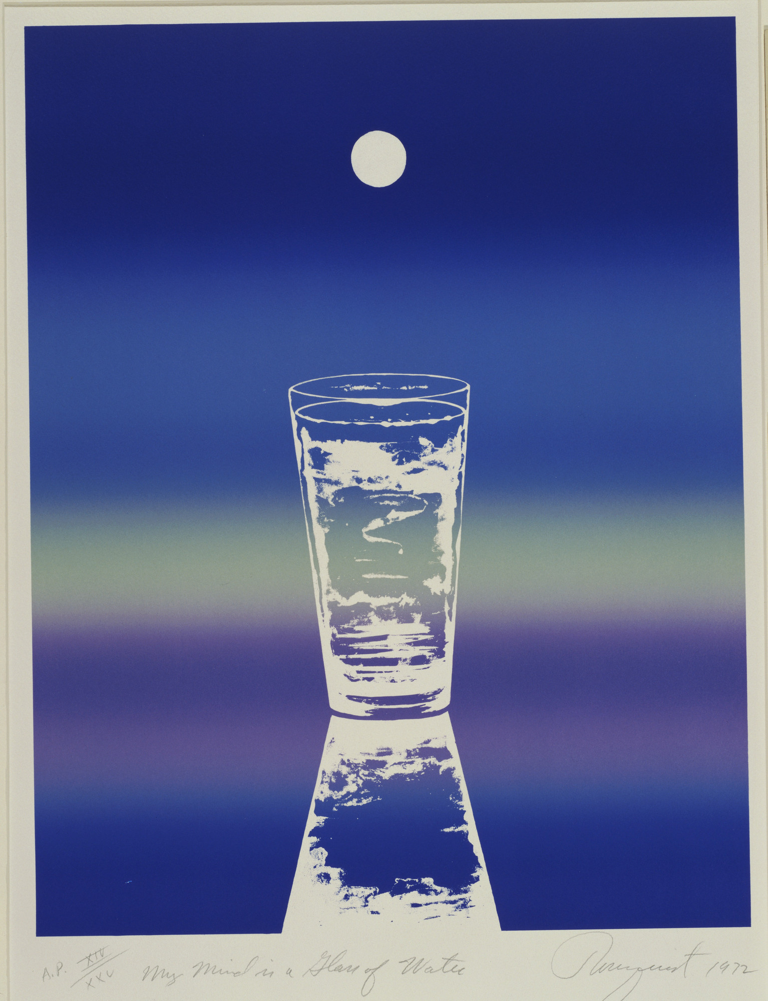 James Rosenquist. My Mind Is a Glass of Water from Prints for Phoenix House. 1972