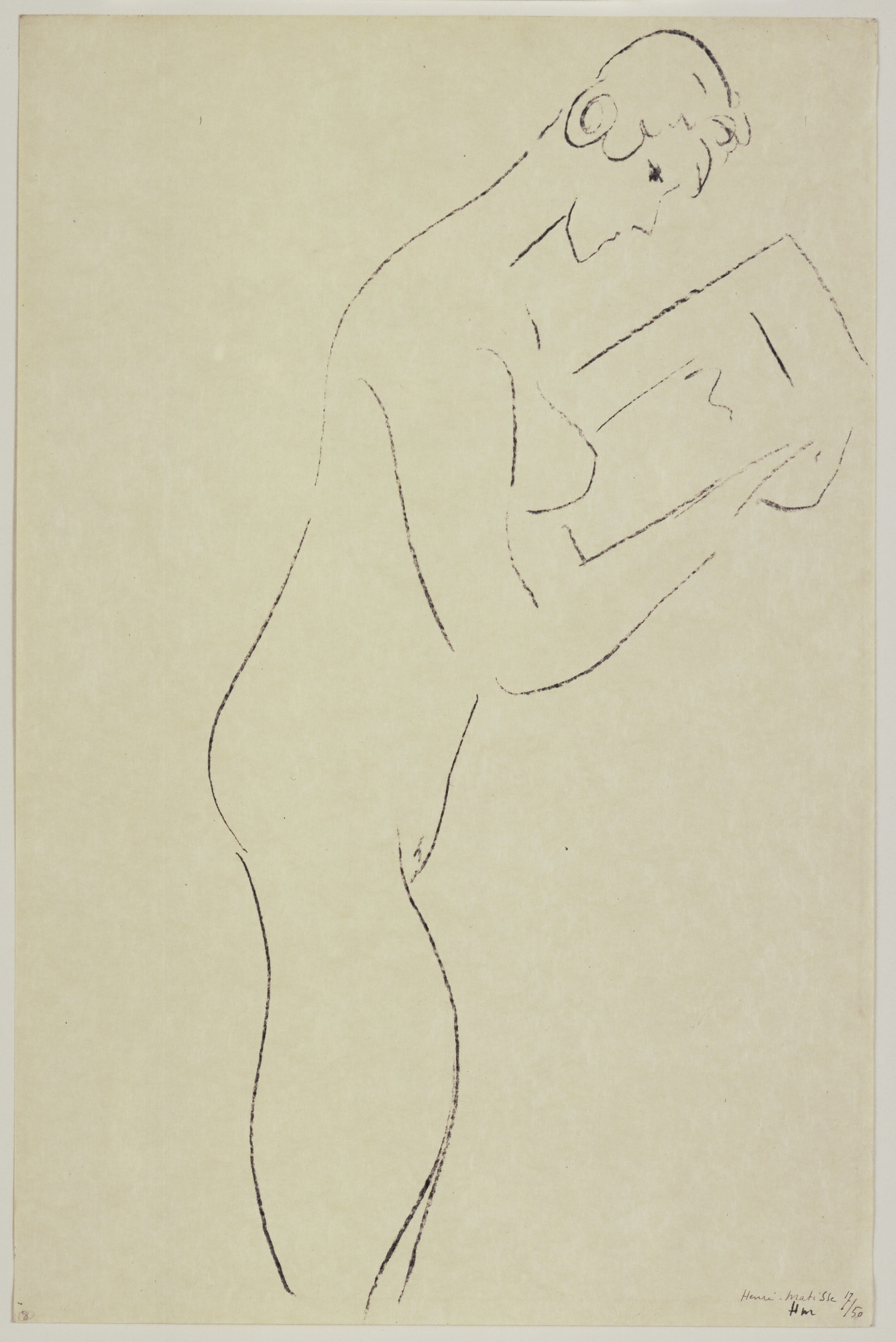 Henri Matisse. Reading, Nude in Profile (La Lecture, nu de profil). 1913