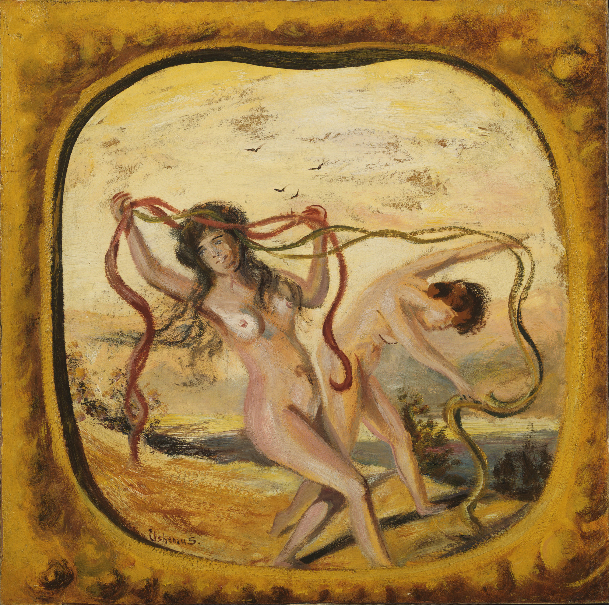 Louis Michel Eilshemius. Dancing Nymphs. 1914