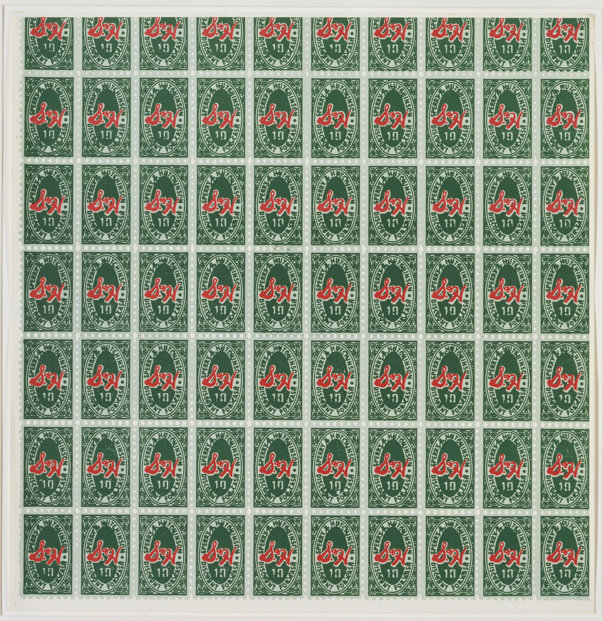 Andy Warhol. S&H Green Stamps. 1965
