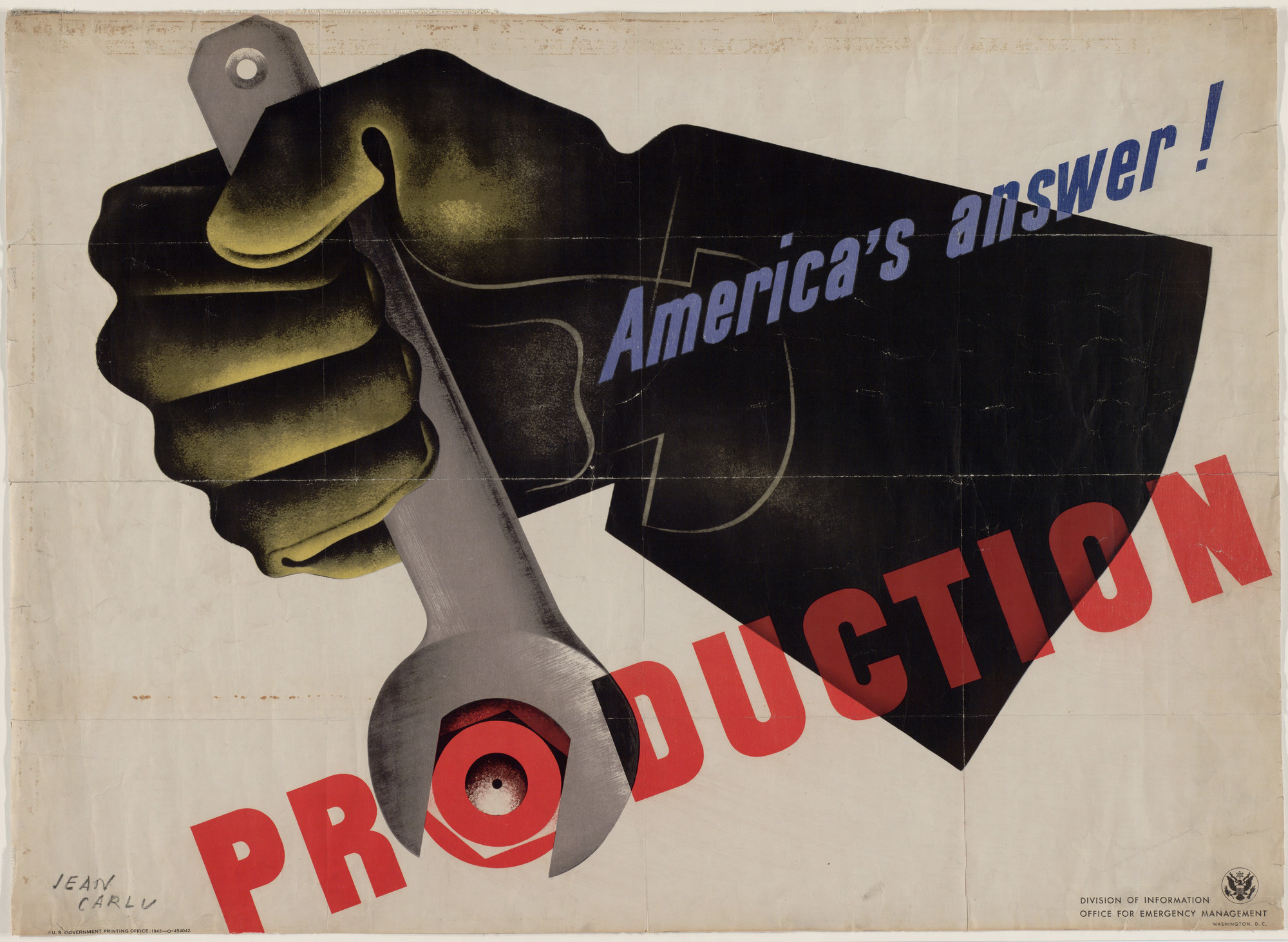 Jean Carlu. America's Answer! Production. 1942