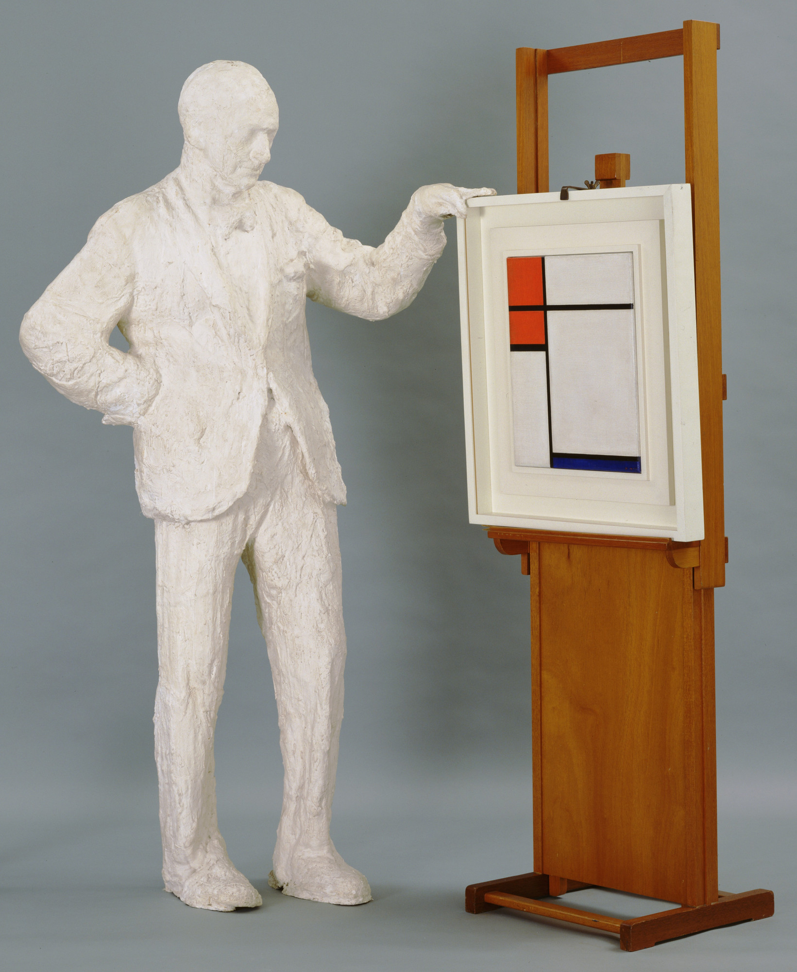 George Segal. Portrait of Sidney Janis with Mondrian Painting. 1967