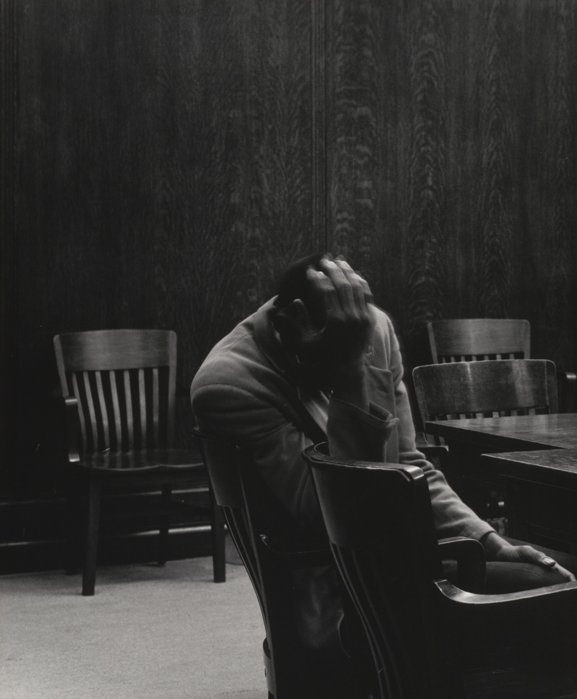 Dorothea Lange. The Defendant, Alameda County Courthouse, California. 1955-57