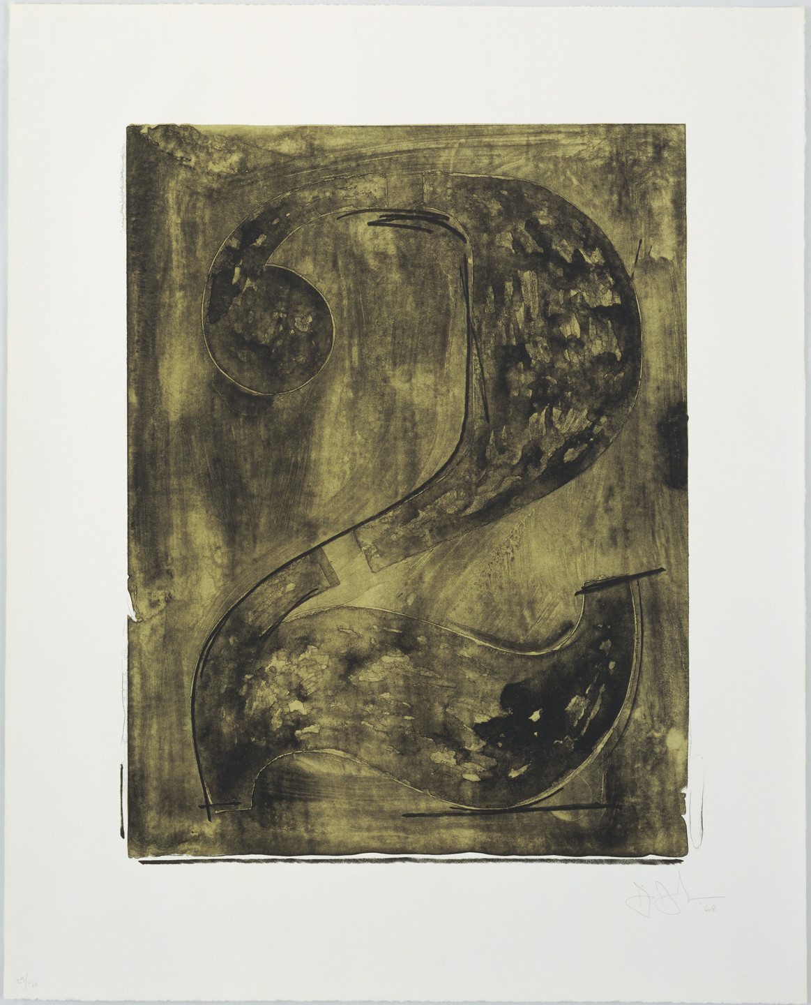 Jasper Johns. Figure 2 from Black Numeral Series. 1968