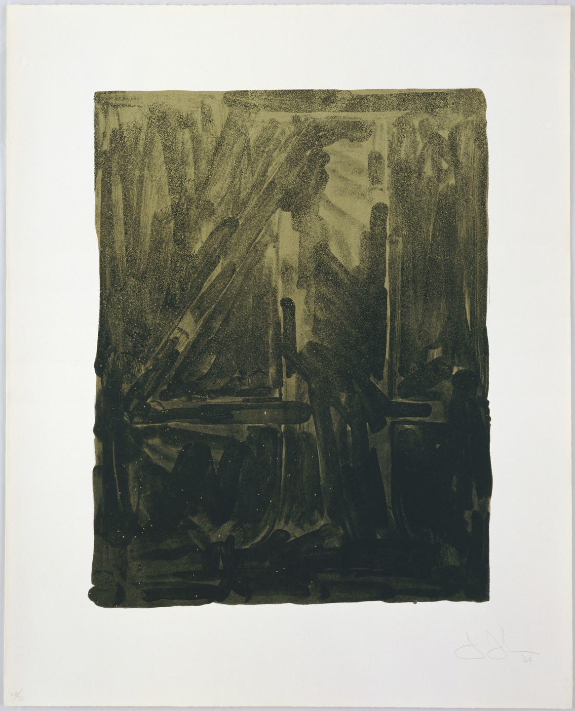 Jasper Johns. Figure 4 from Black Numeral Series. 1968