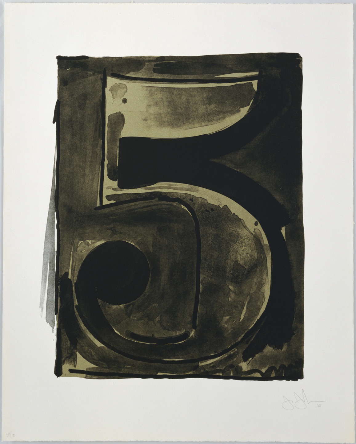 Jasper Johns. Figure 5 from Black Numeral Series. 1968