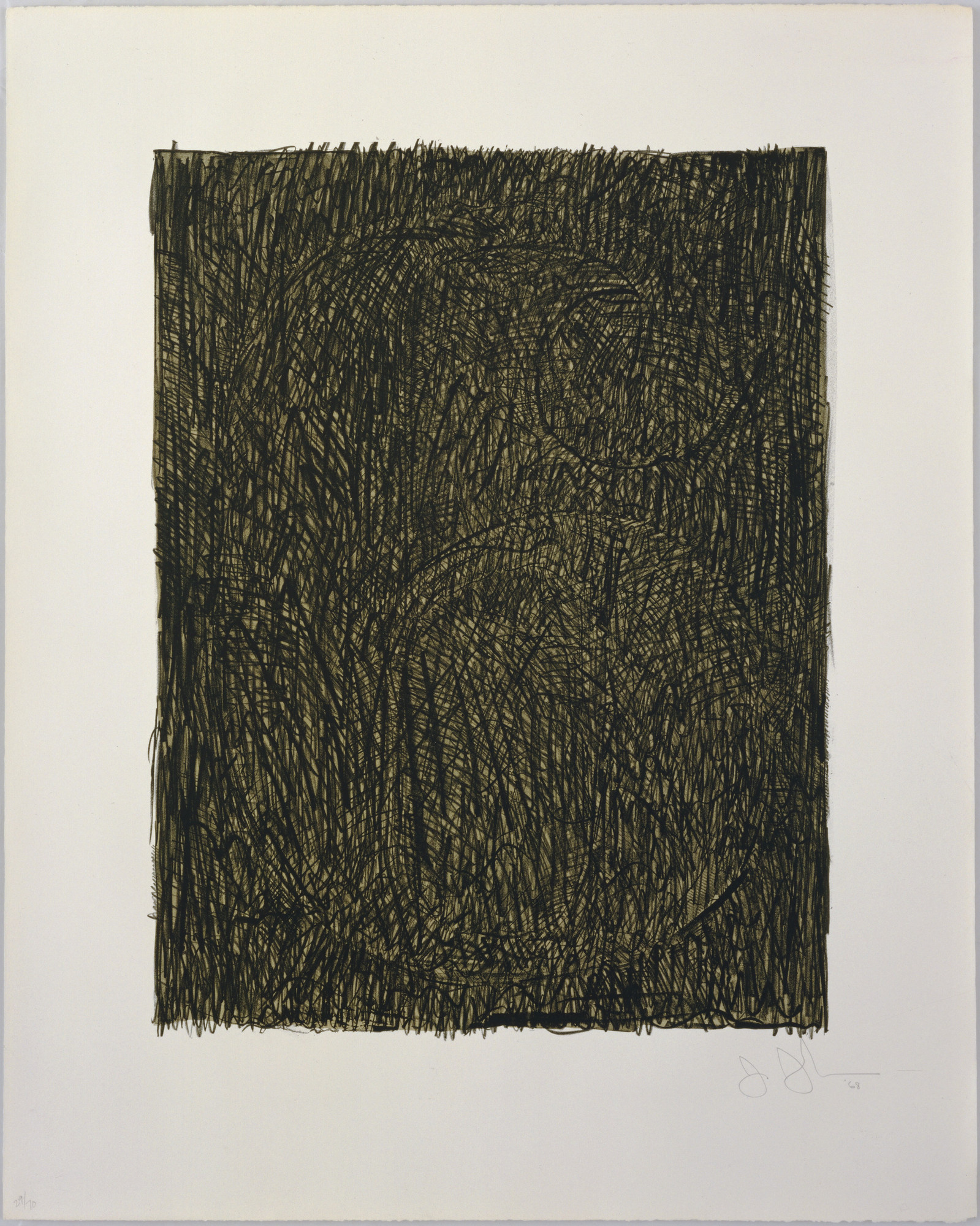 Jasper Johns. Figure 6 from Black Numeral Series. 1968
