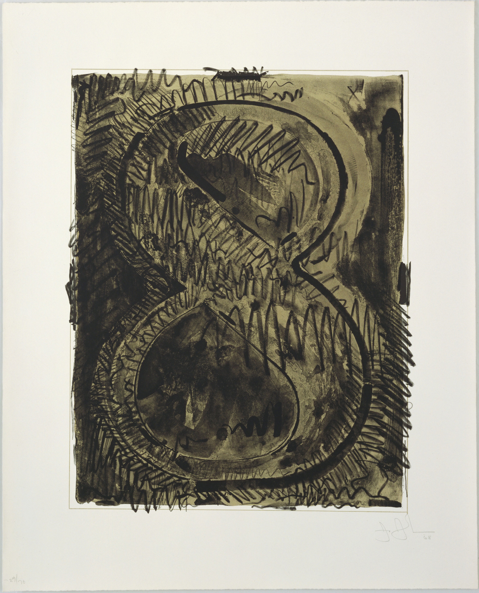 Jasper Johns. Figure 8 from Black Numeral Series. 1968