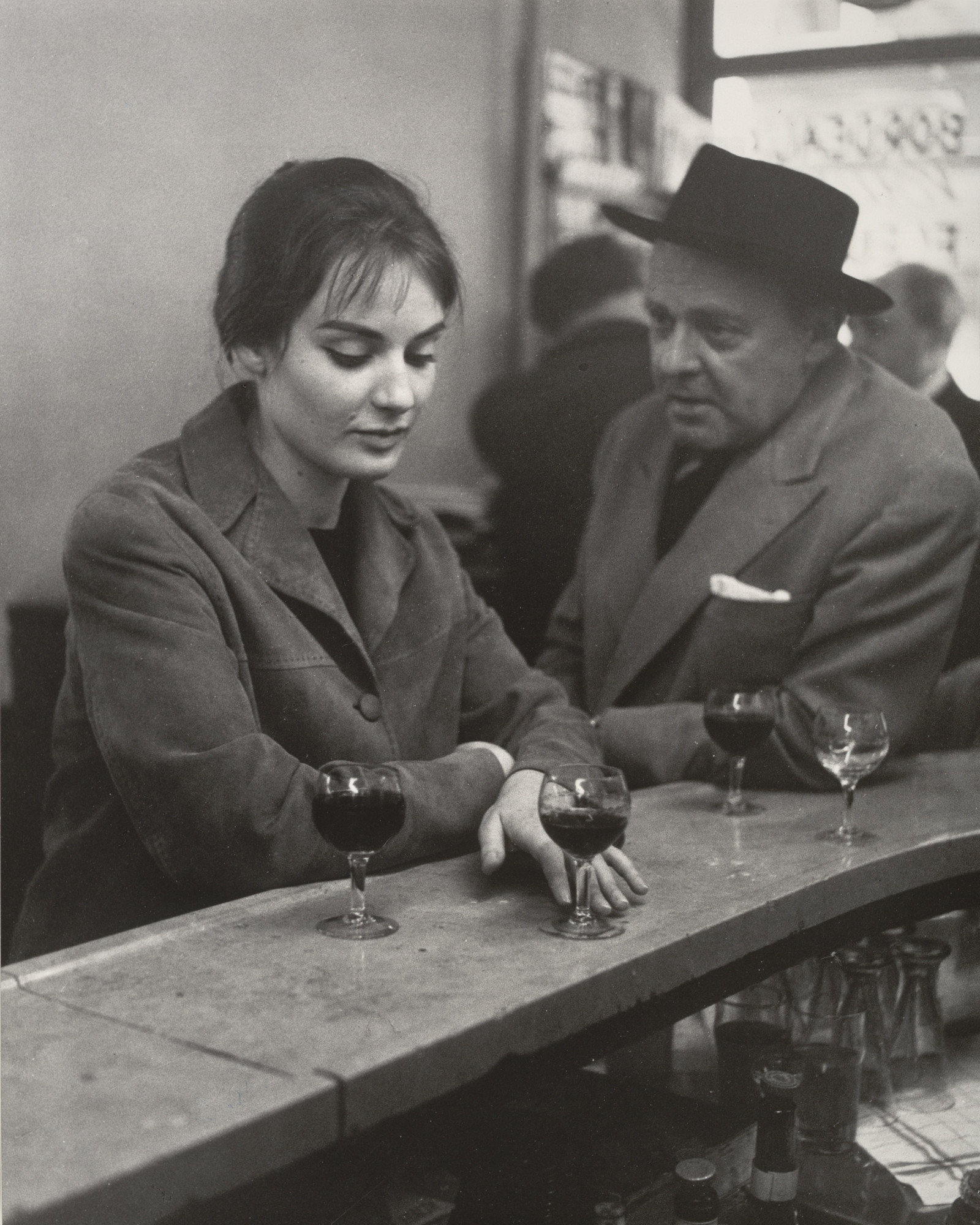 Robert Doisneau. At the Café, Chez Fraysse, Rue de Seine, Paris. 1958