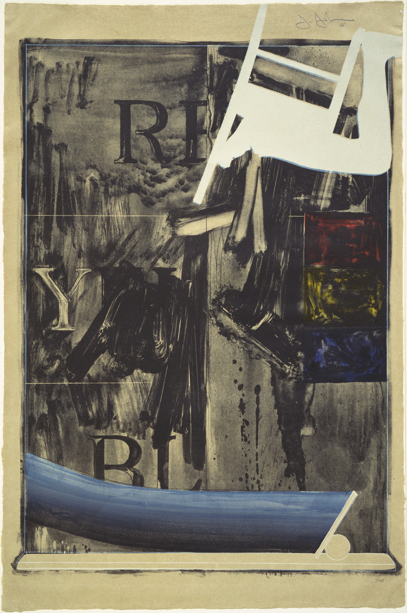 Jasper Johns. Watchman. 1967