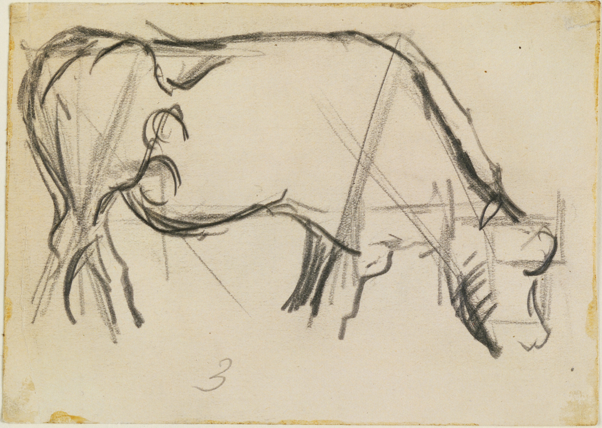 Theo van Doesburg. Study for Composition (The Cow). 1917