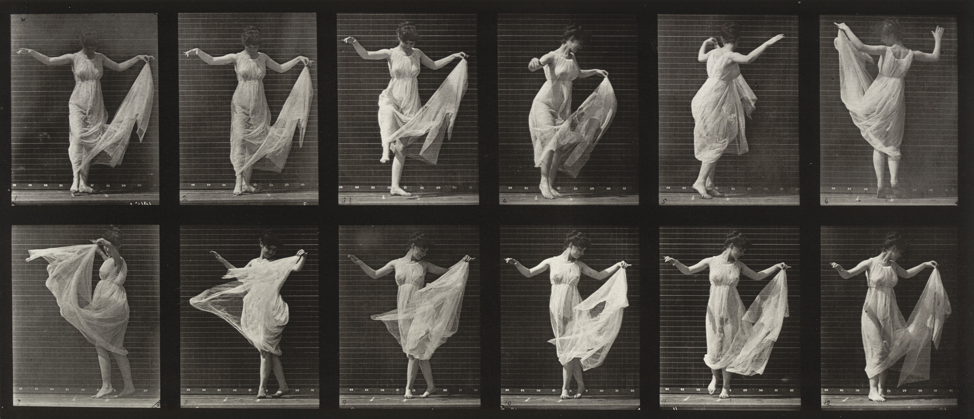 Eadweard J. Muybridge. Woman Dancing (Fancy): Plate 187 from Animal Locomotion (1887). 1884-86
