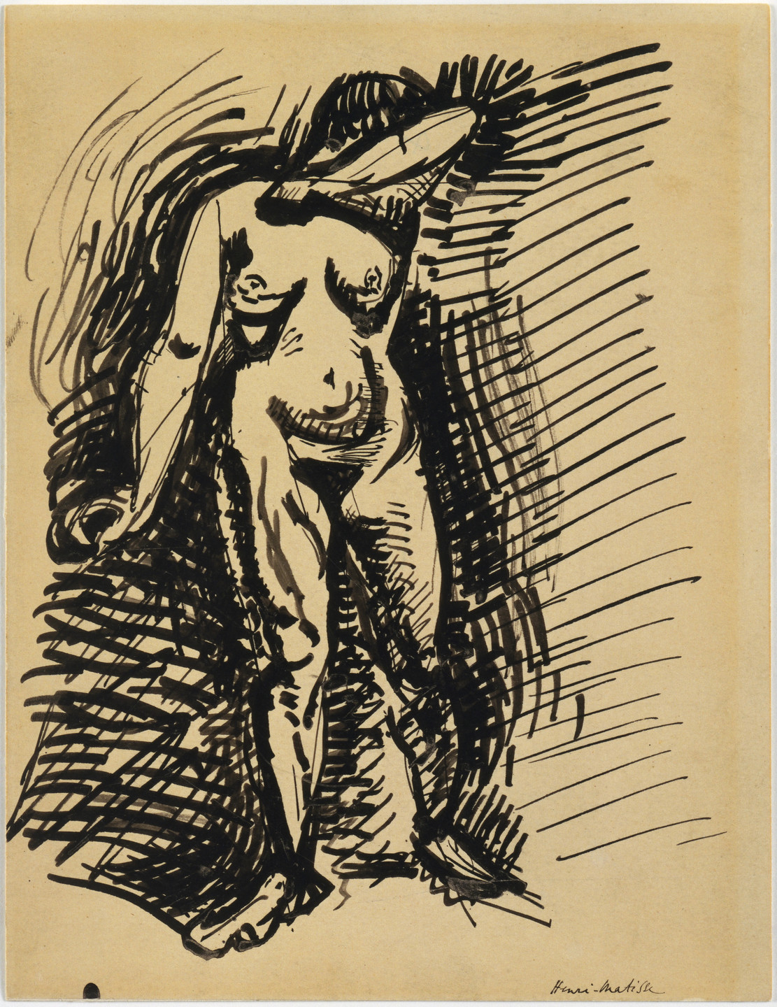 Henri Matisse. Standing Nude, Arms Covering her Face. c. 1901–03