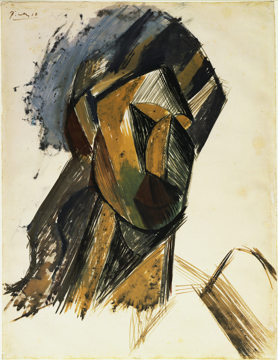 Pablo Picasso. Head of a Woman. (Spring 1909)
