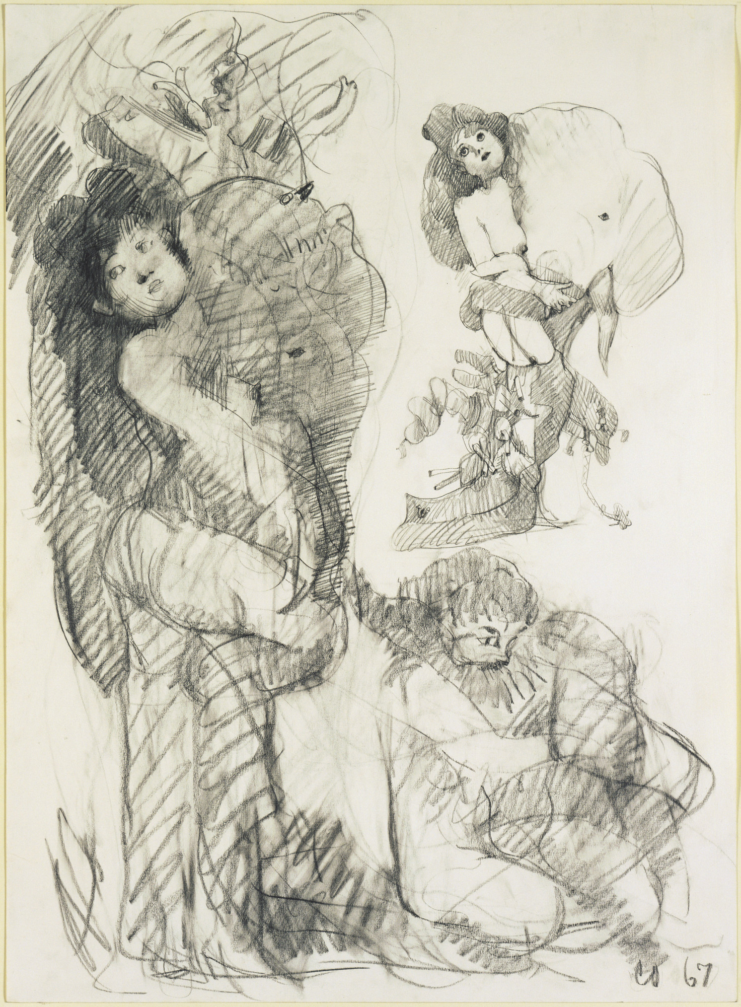 "Claes Oldenburg. Stripper with Battleship: Preliminary study for ""Image of the Buddha Preaching"" by Frank O'Hara. 1967"