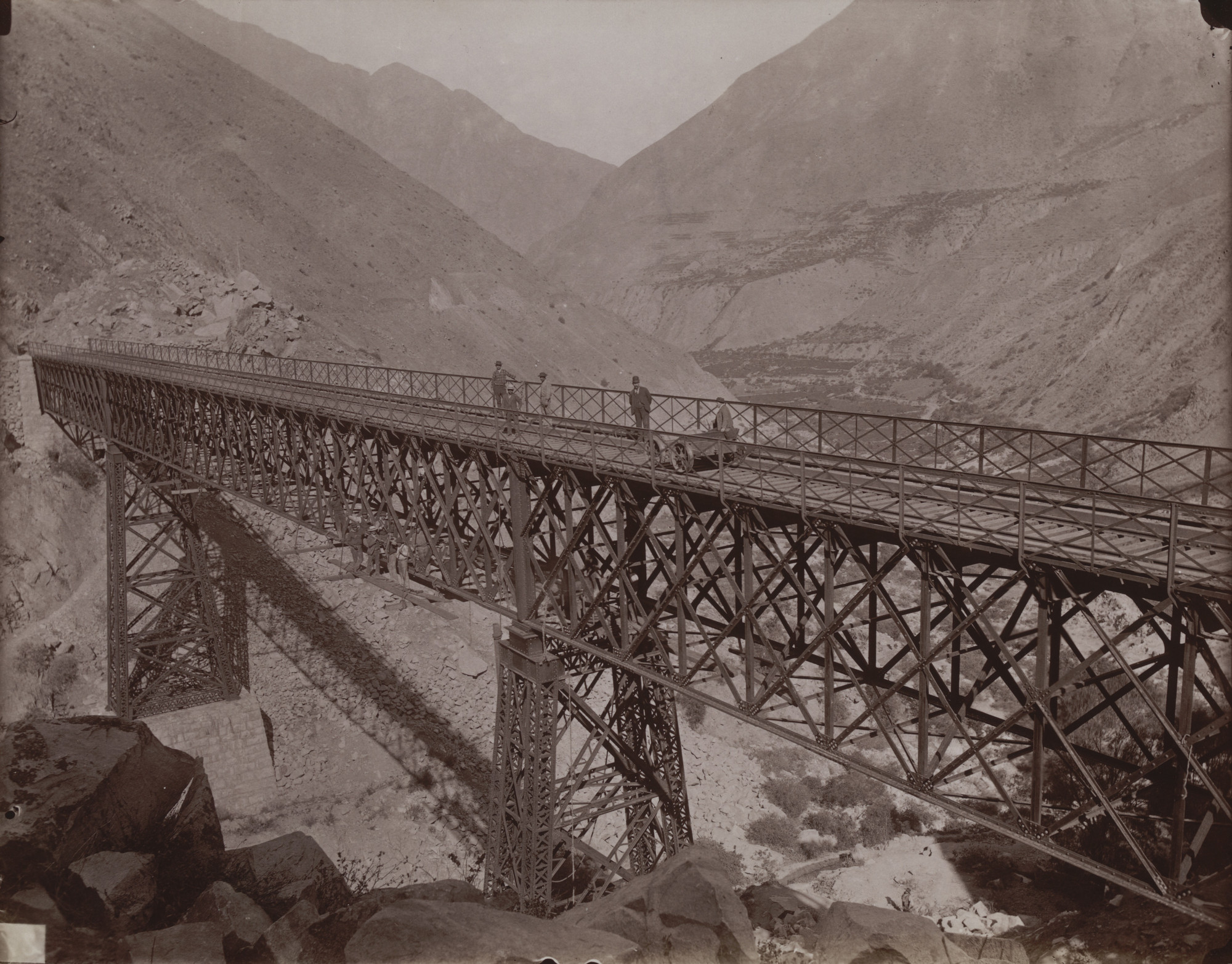 Unknown photographer. Railroad Bridge, Peru. c. 1880