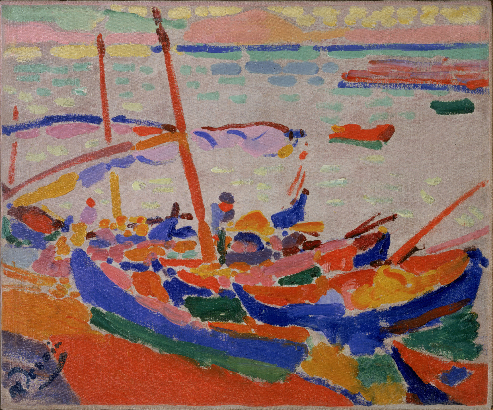 André Derain. Fishing Boats, Collioure. 1905