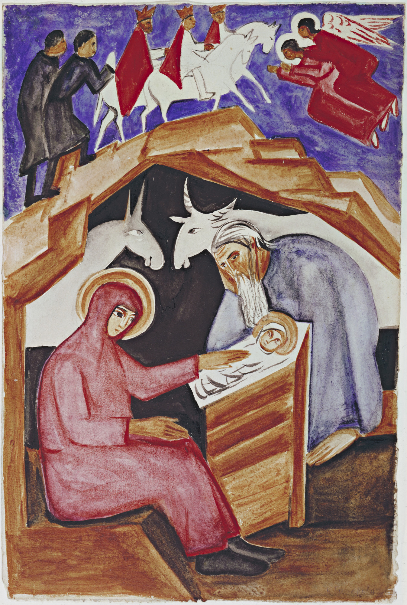 Natalia Goncharova. The Nativity, for Liturgy. (1915)