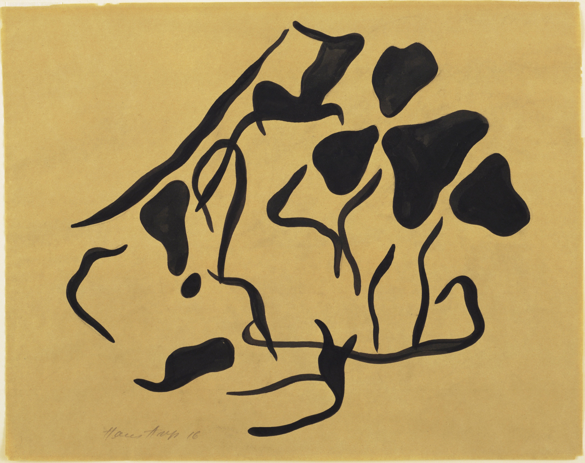 Jean (Hans) Arp. Untitled (Automatic Drawing). 1917–18 (inscribed 1916)