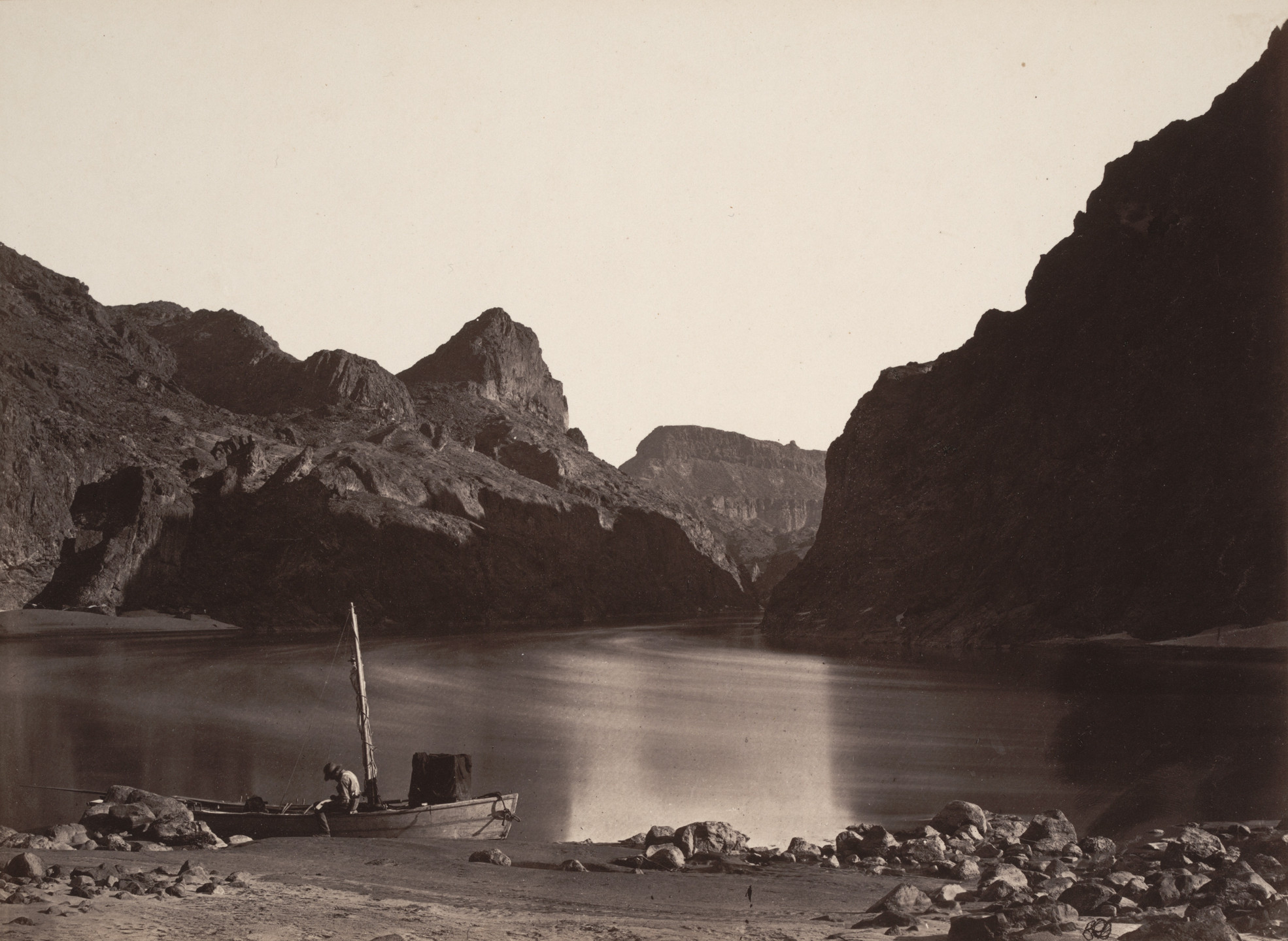 Timothy O'Sullivan. Black Cañon, Colorado River, From Camp 8, Looking Above. 1871