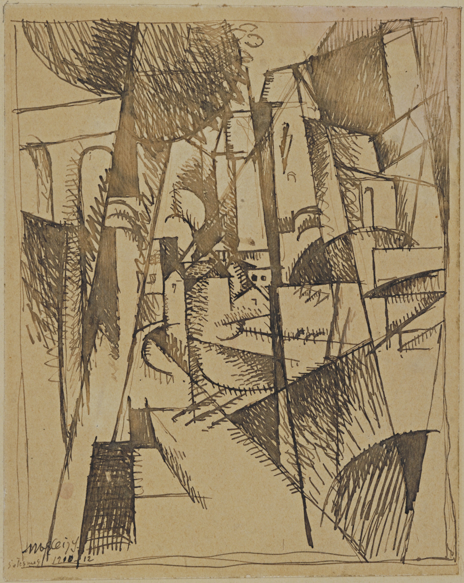 Albert Gleizes. Landscape with Bridge and Viaduct. 1910