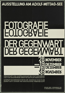 Fotografie der Gegenwart (Contemporary Photography) (Poster for exhibition in Magdeburg)