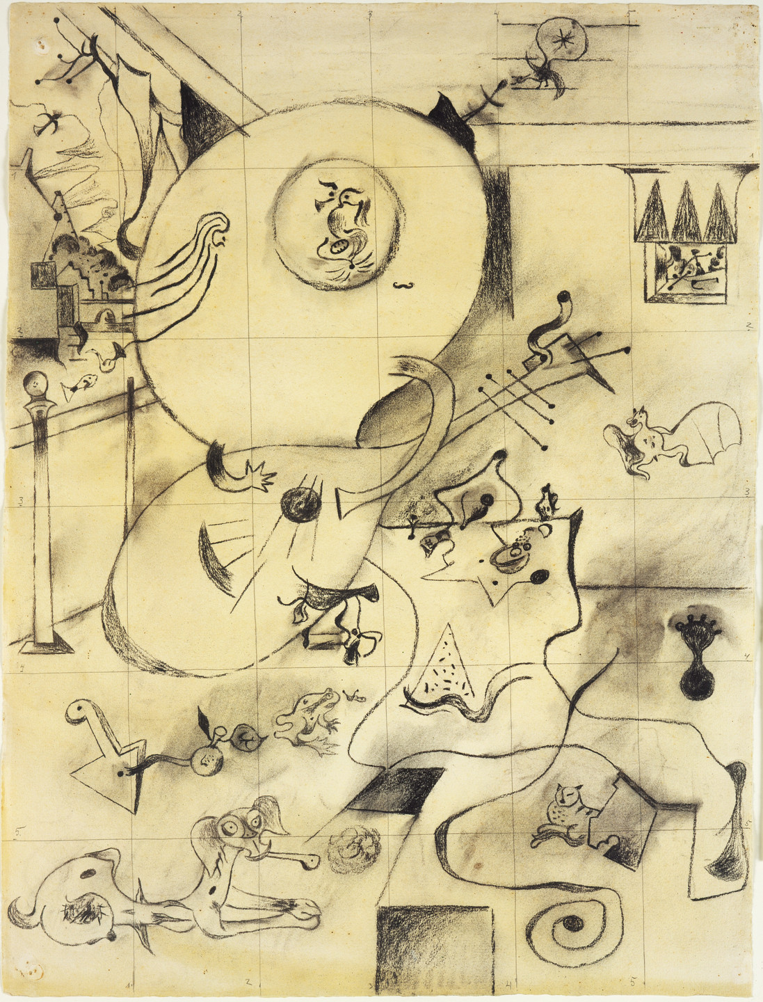 Joan Miró. Final study for Dutch Interior (I). 1928