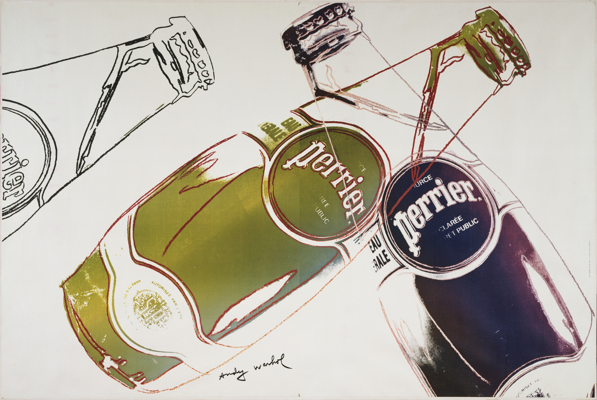 Andy Warhol. Perrier. 1983