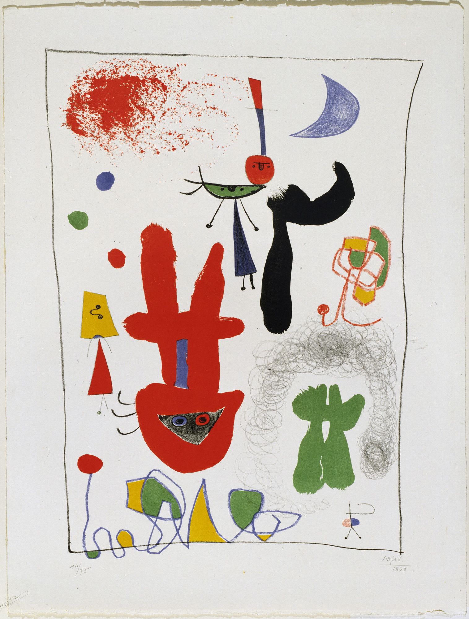 Joan Miró. Acrobats in the Night Garden. 1948