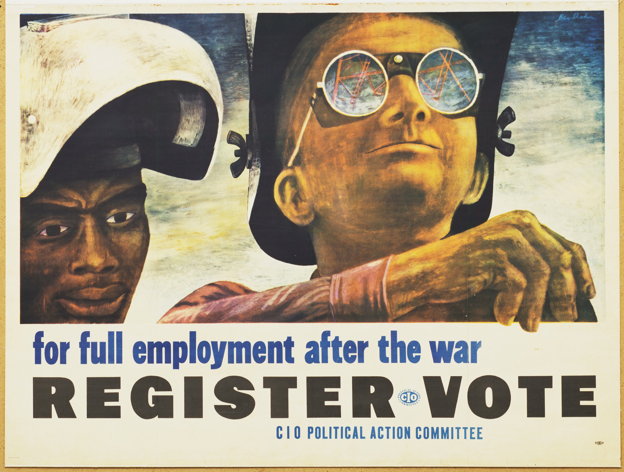 Ben Shahn. For Full Employment After the War, Register, Vote. 1944