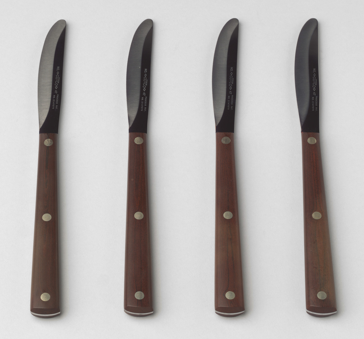 The Aluminum Cooking Utensil Co., New York, NY. Steak Knives. Unknown