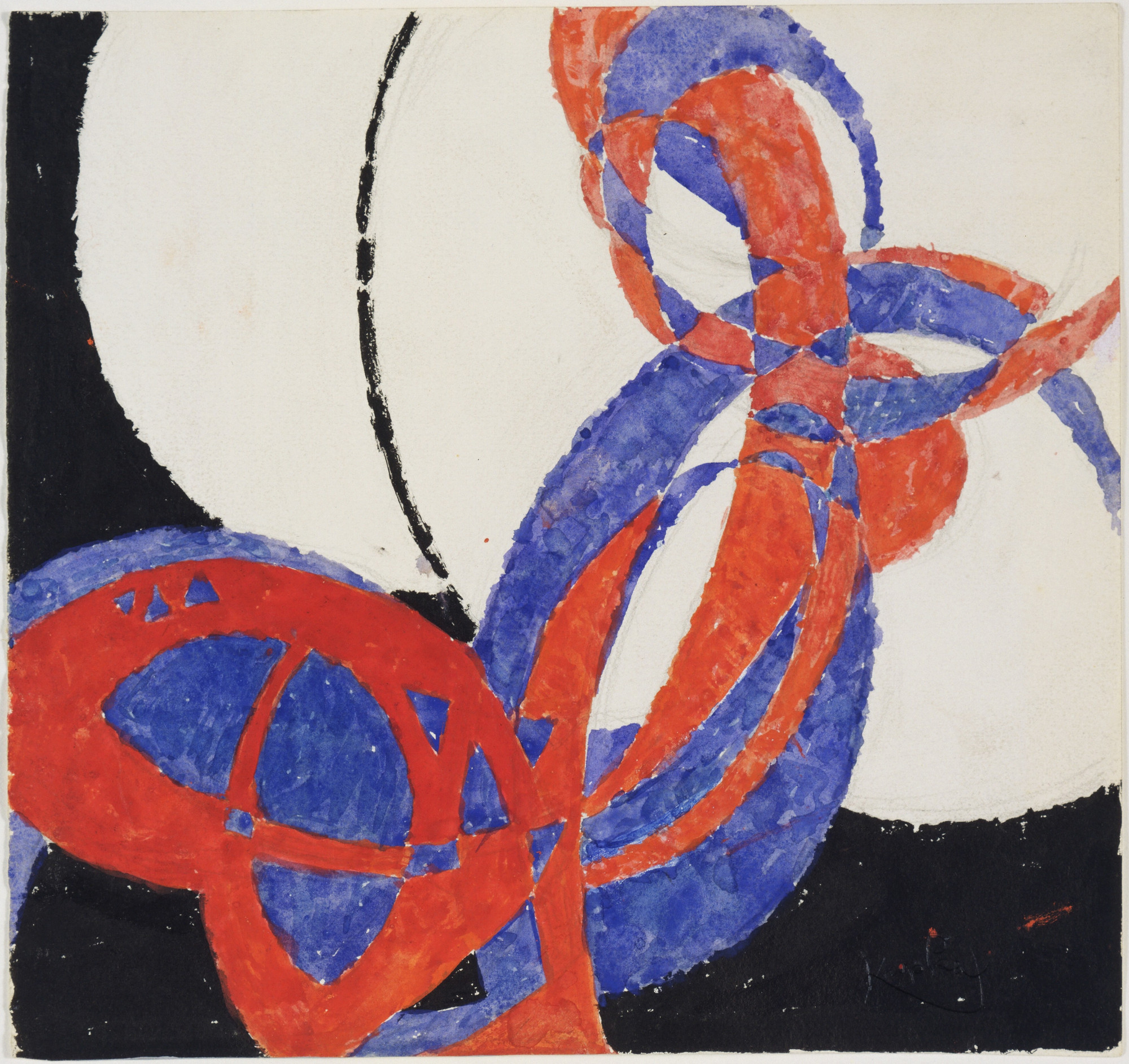František Kupka. Replica of Fugue in Two Colors: Amorpha, 1912. (1946)