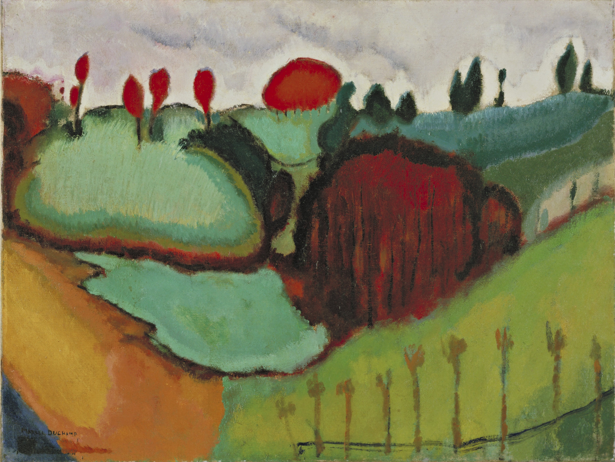 Marcel Duchamp. Landscape. Neuilly, January-February 1911