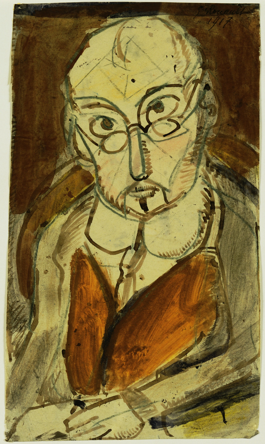 Georges Rouault. Man with Spectacles. 1917