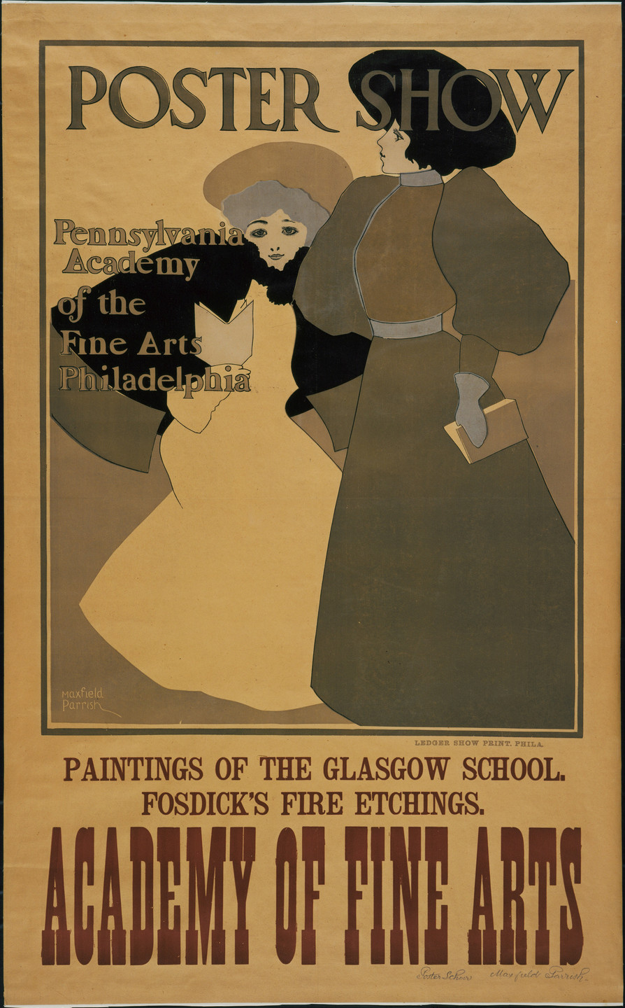 Maxfield Parrish. Poster Show, Pennsylvania Academy of the Fine Arts Philadelphia. 1896