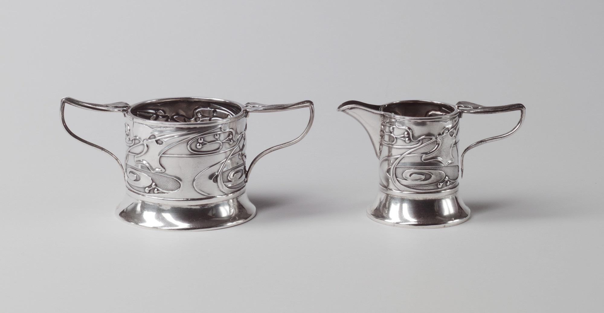 Kate Harris. Creamer and Sugar Bowl. 1902