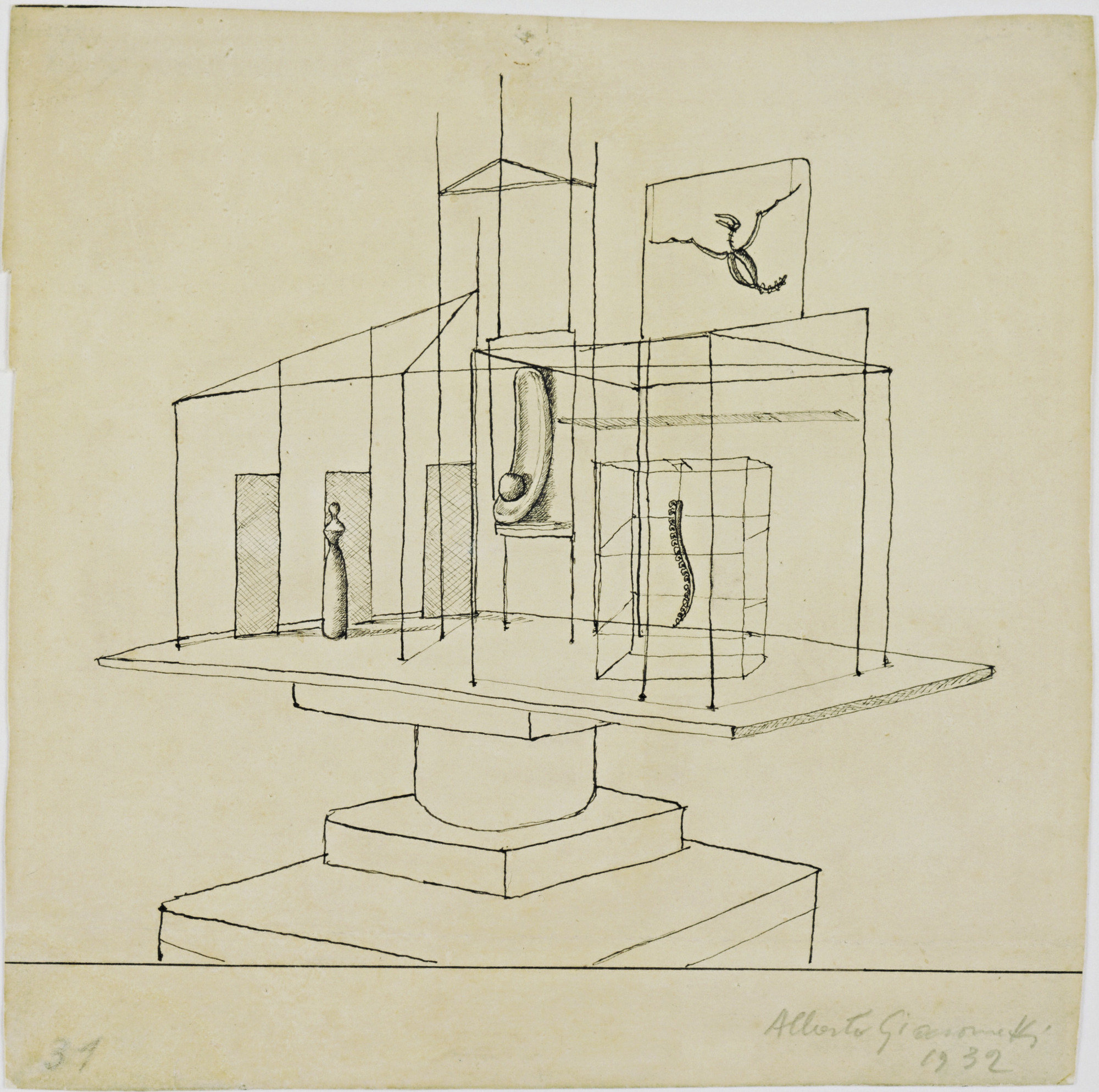 Alberto Giacometti. Study for The Palace at 4 a.m.. 1932