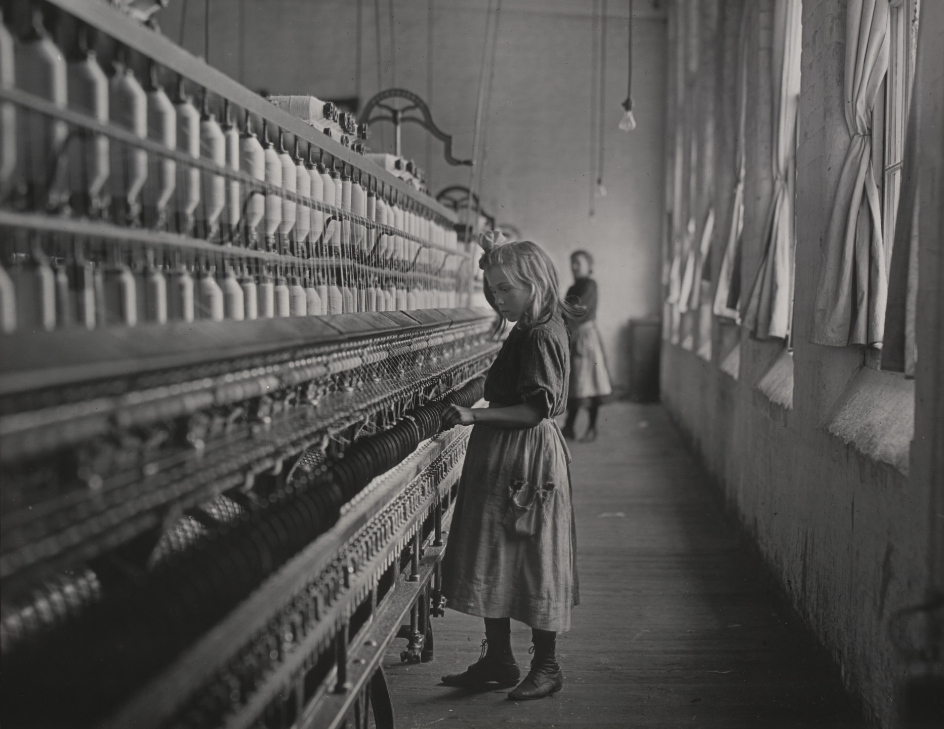Lewis W. Hine. Sadie Pfeifer, a Cotton Mill Spinner, Lancaster, South Carolina. 1908