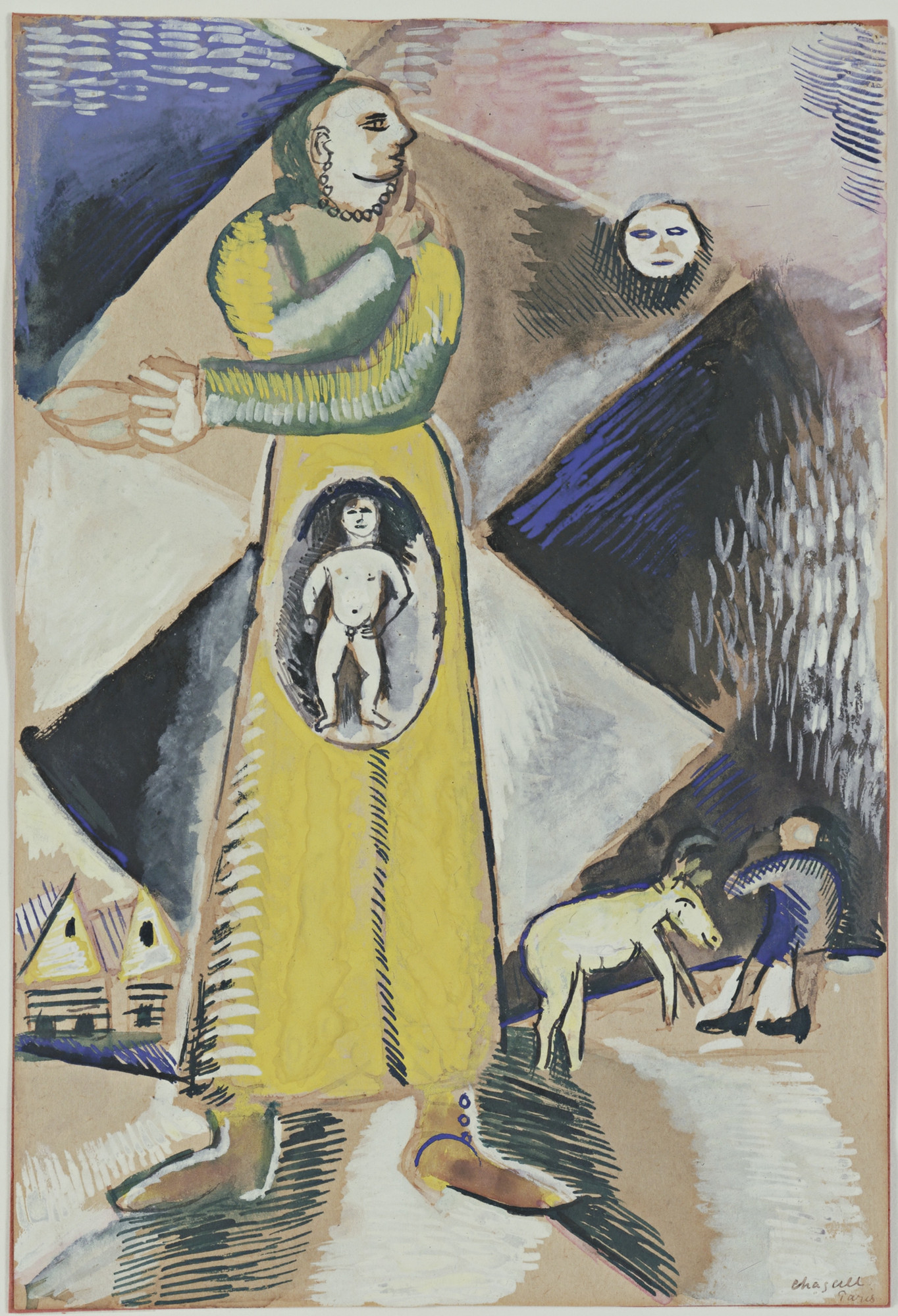 Marc Chagall. Maternity. (1912)