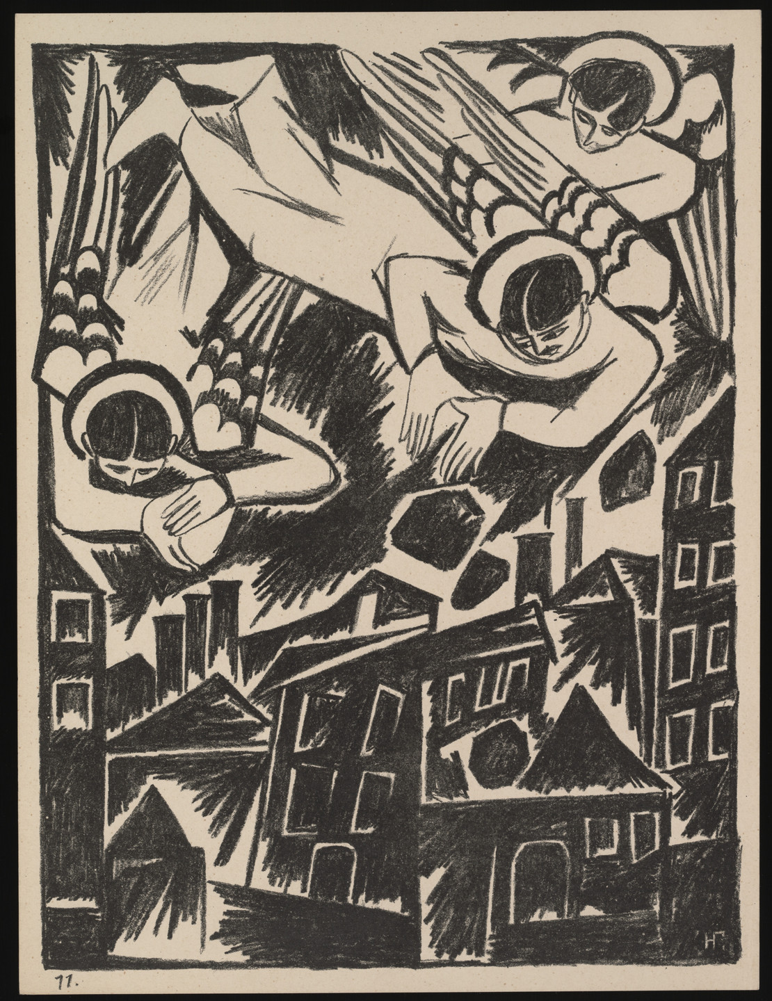 Natalia Goncharova. Grad obrechennyi (The Doomed City) from Misticheskie obrazy voiny. 14 litografii (Mystical Images of War: Fourteen Lithographs). 1914