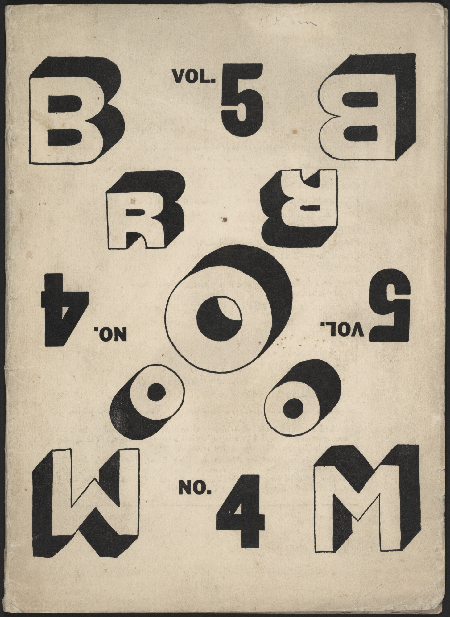 El Lissitzky. Broom, vol. 5, no. 4. 1923
