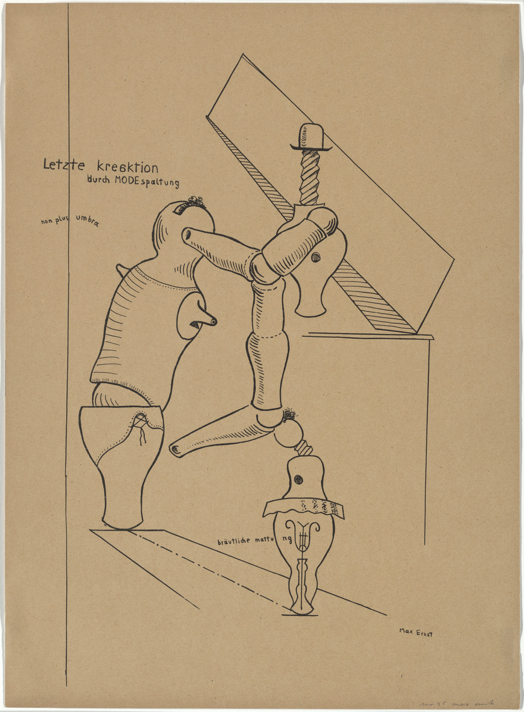 Max Ernst. Plate III from Let There Be Fashion, Down With Art (Fiat modes pereat ars). 1920