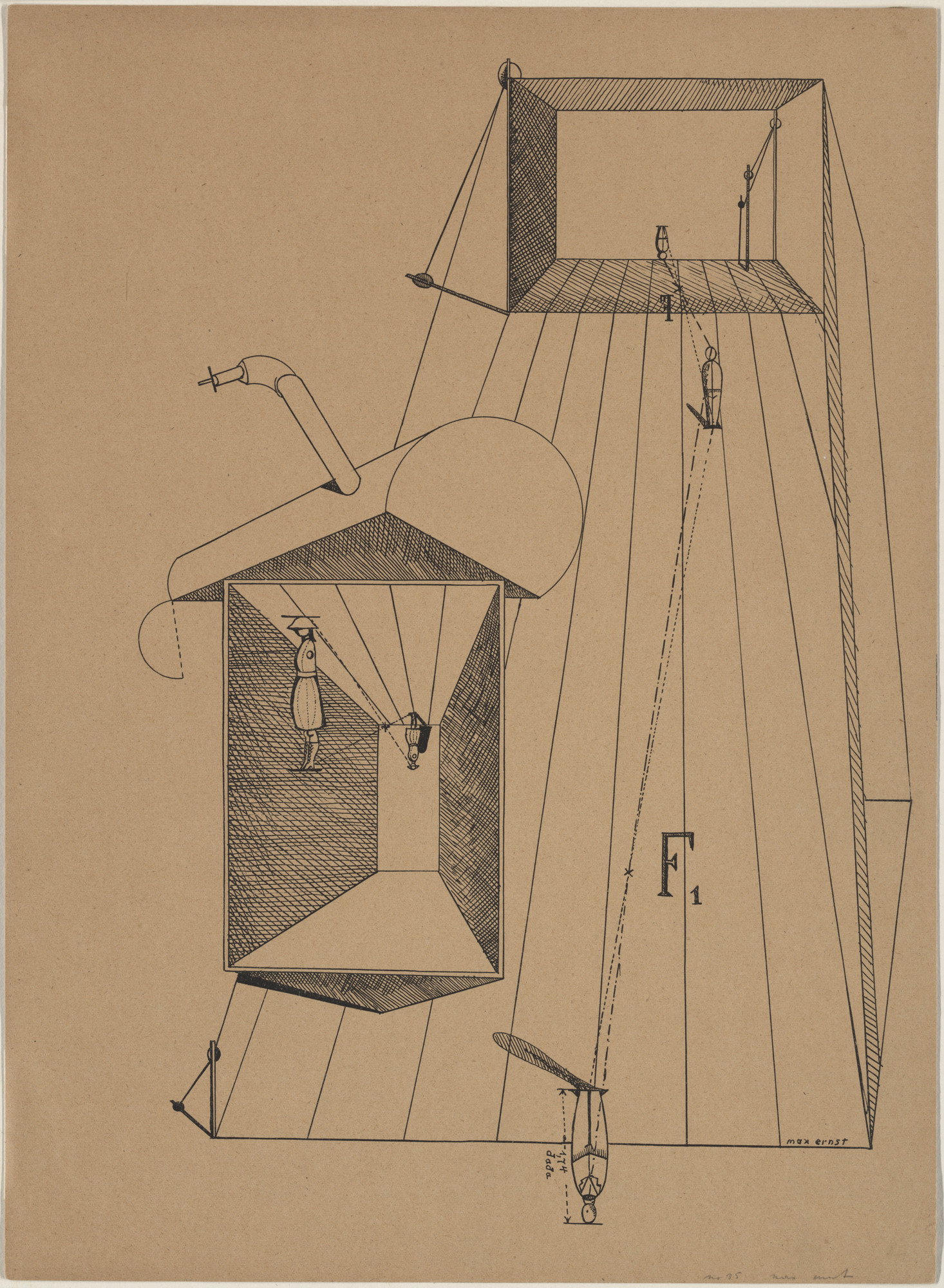 Max Ernst. Plate VI from Let There Be Fashion, Down With Art (Fiat modes pereat ars). 1920