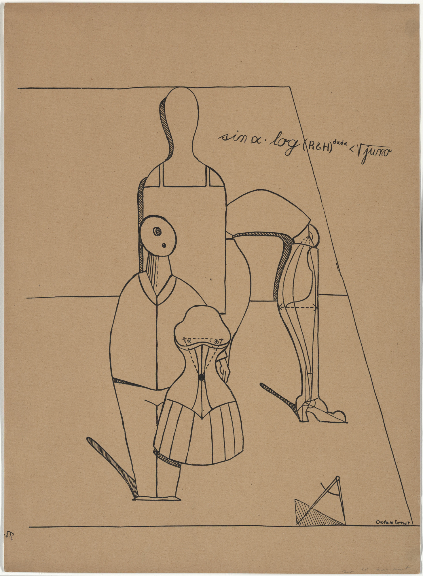 Max Ernst. Plate II from Let There Be Fashion, Down With Art (Fiat modes pereat ars). 1920