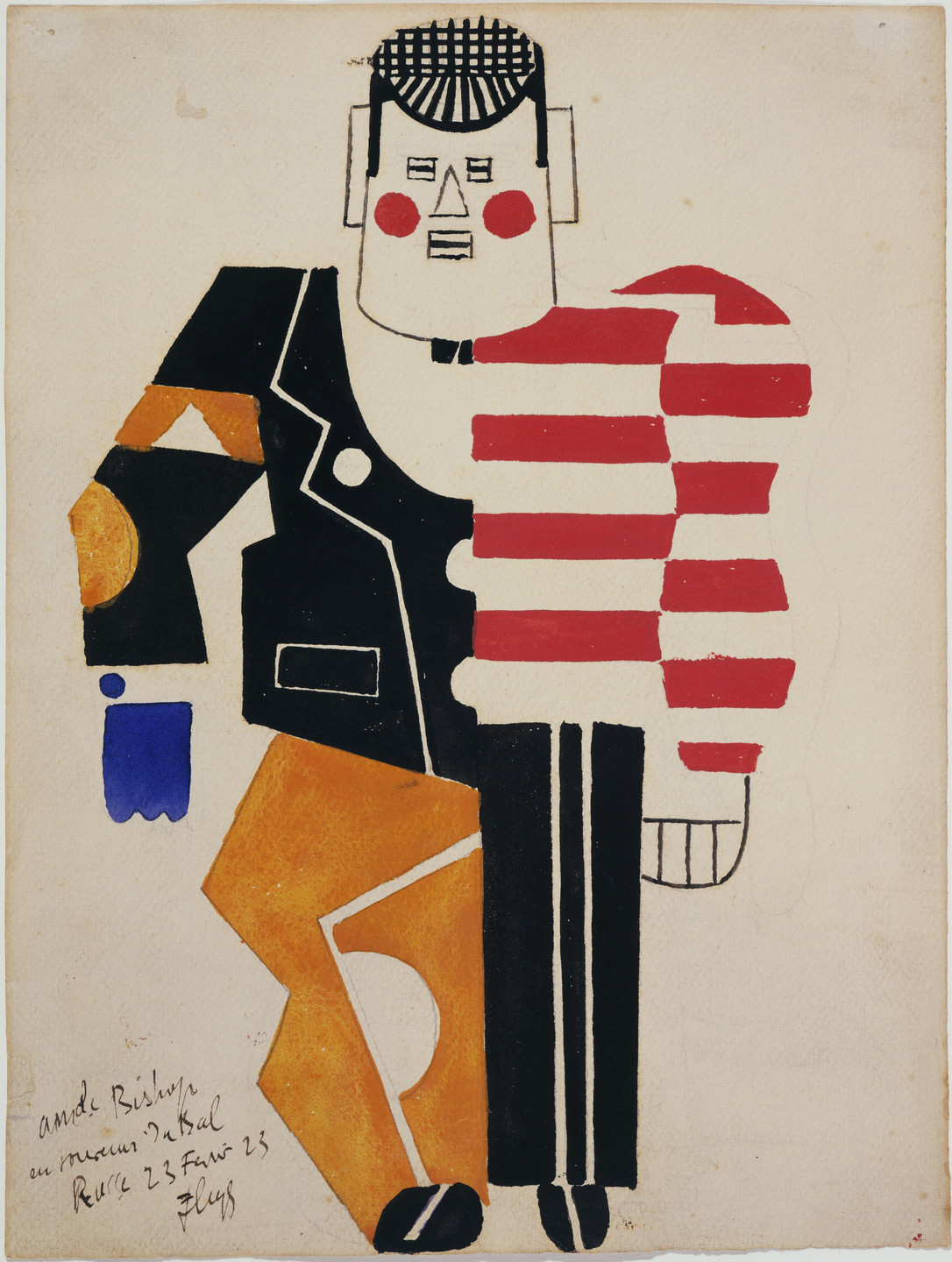Fernand Léger. Costume design for the ballet Skating Rink. 1922