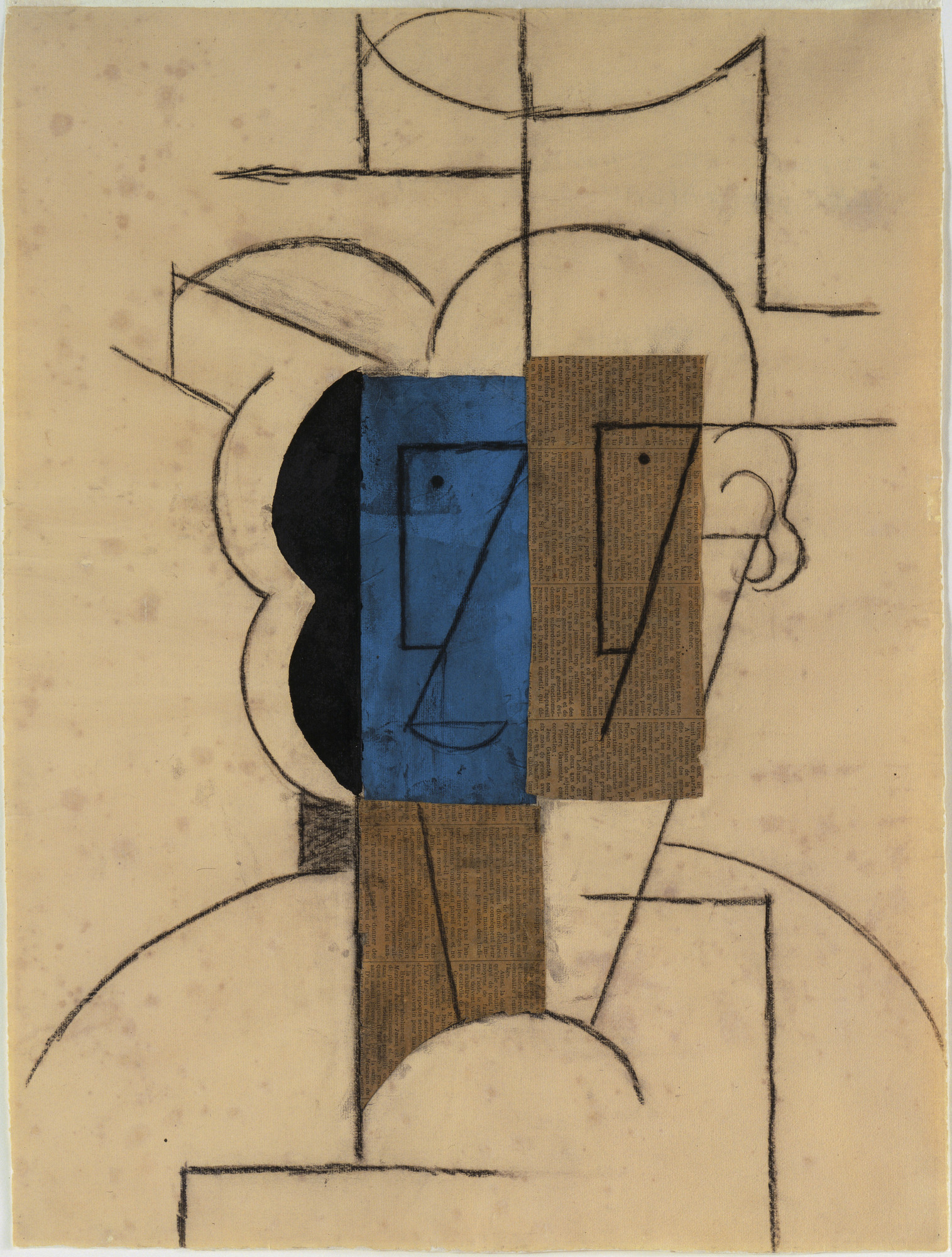Pablo Picasso. Head of a Man with a Hat. Paris, December 1912