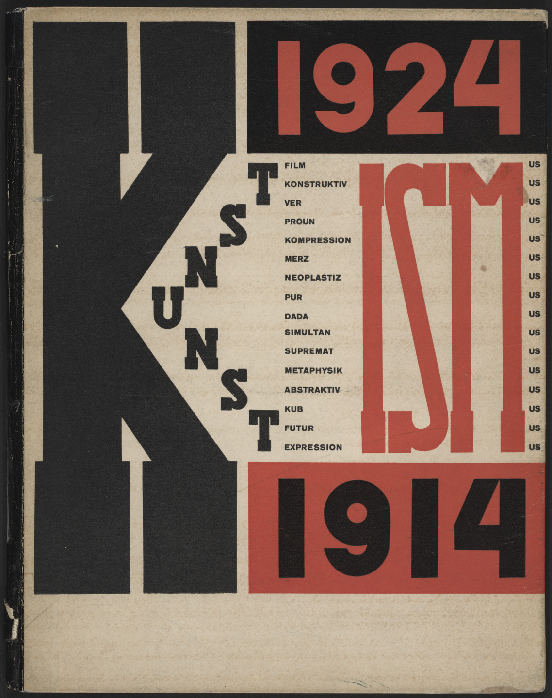 El Lissitzky. Kunstismus, 1914–1924 (The Isms of Art 1914–1924). 1925