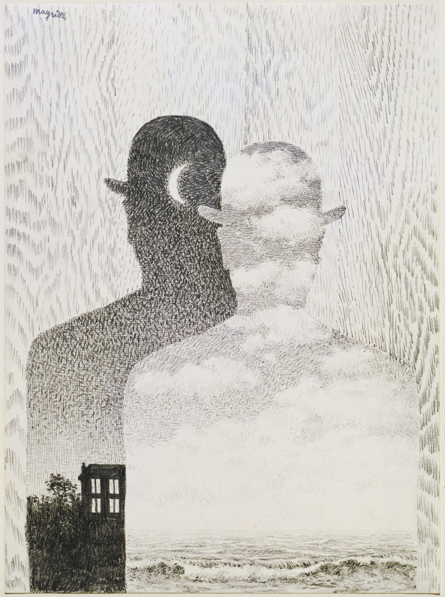 René Magritte. The Thought Which Sees. (1965)