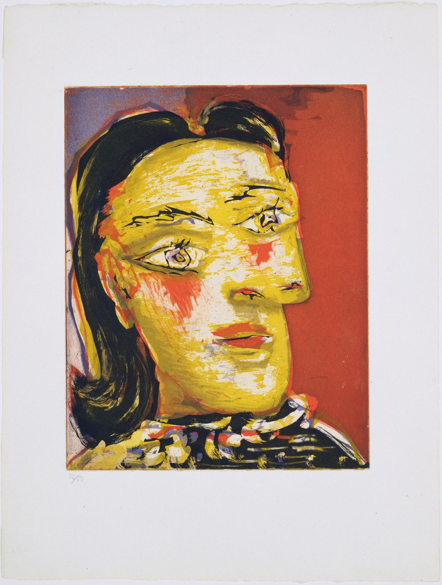 Pablo Picasso. Head of a Woman No. 4, Portrait of Dora Maar (Tête de ...