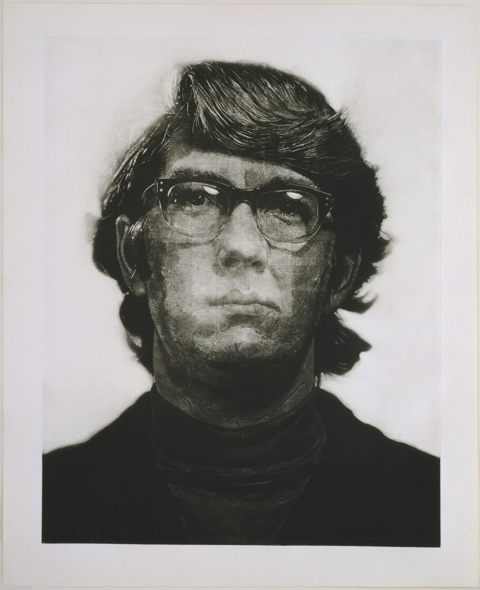 Chuck Close. Keith/Mezzotint. 1972